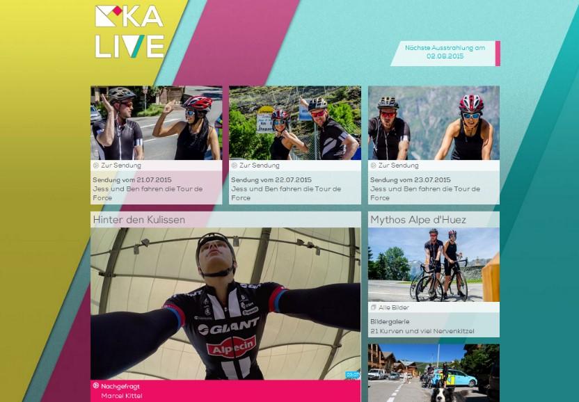Screenshot KIKA live Tour de Force